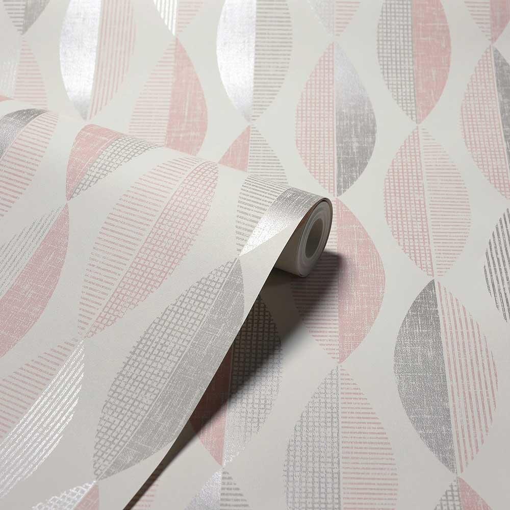 Arthouse Aziza Geo Blush Wallpaper - Product code: 907507