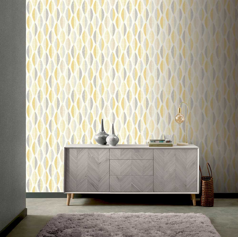 Arthouse Aziza Geo Ochre Wallpaper - Product code: 907508