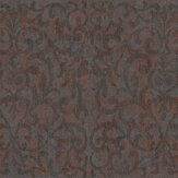 Fardis Luxe Scroll Russet Wallpaper - Product code: 10322