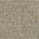 Fardis Luxe Scroll Old Gold Wallpaper - Product code: 10323