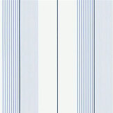 Ralph Lauren Aiden Stripe Blue/ White Wallpaper - Product code: PRL020/04