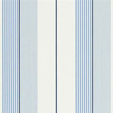 Ralph Lauren Aiden Stripe Blue/ Navy/ White Wallpaper - Product code: PRL020/07