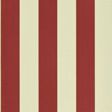 Ralph Lauren Spalding Stripe Red and Sand Wallpaper - Product code: PRL026/18