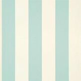 Ralph Lauren Spalding Stripe Duck Egg Blue Wallpaper - Product code: PRL026/24