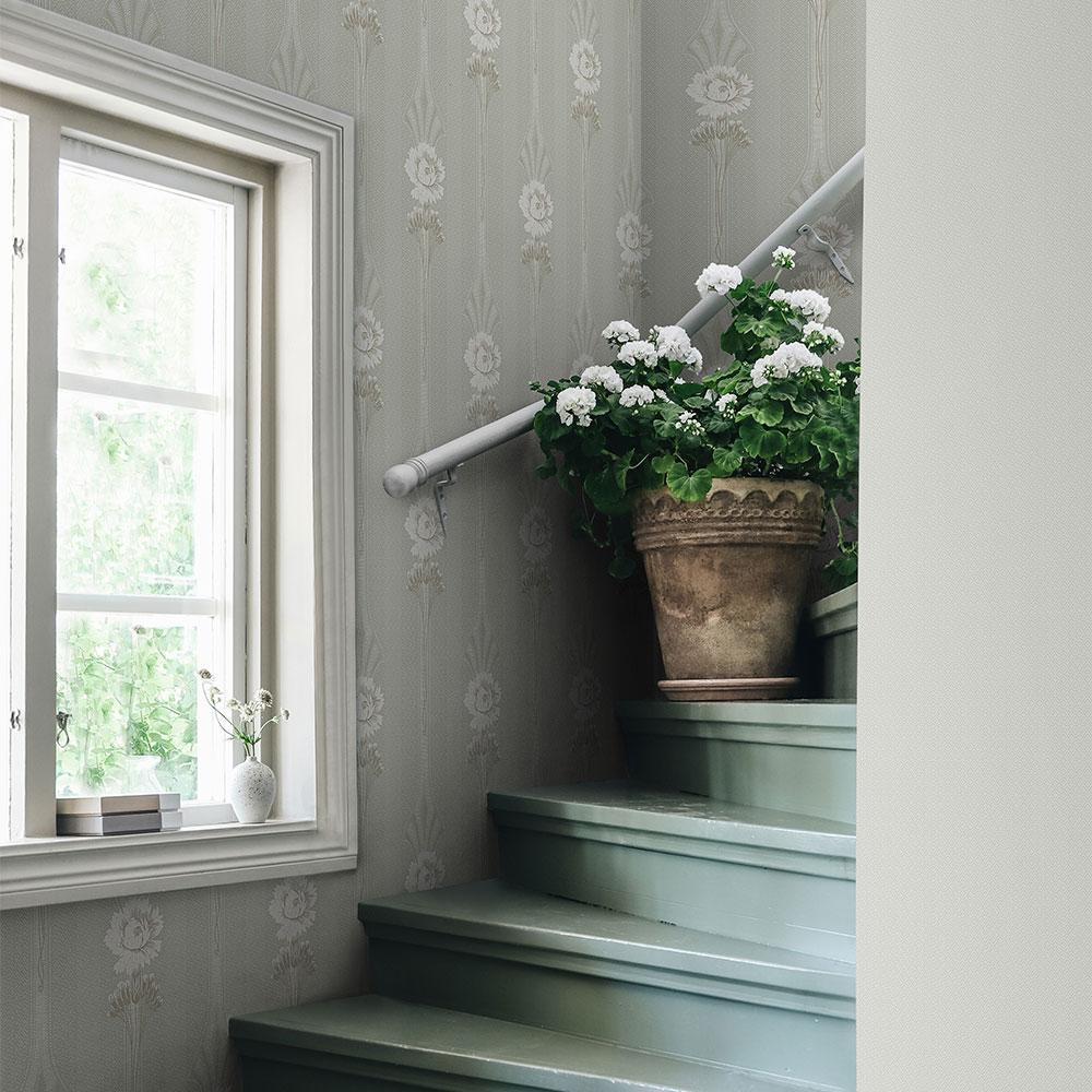 Margareta Wallpaper - Garden Green - by Sandberg