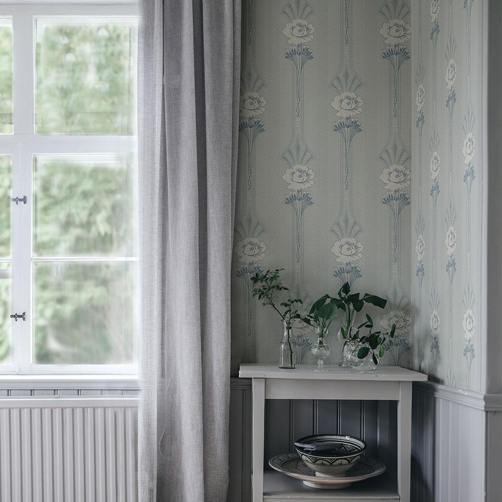 Margareta Wallpaper - Powder Blue - by Sandberg