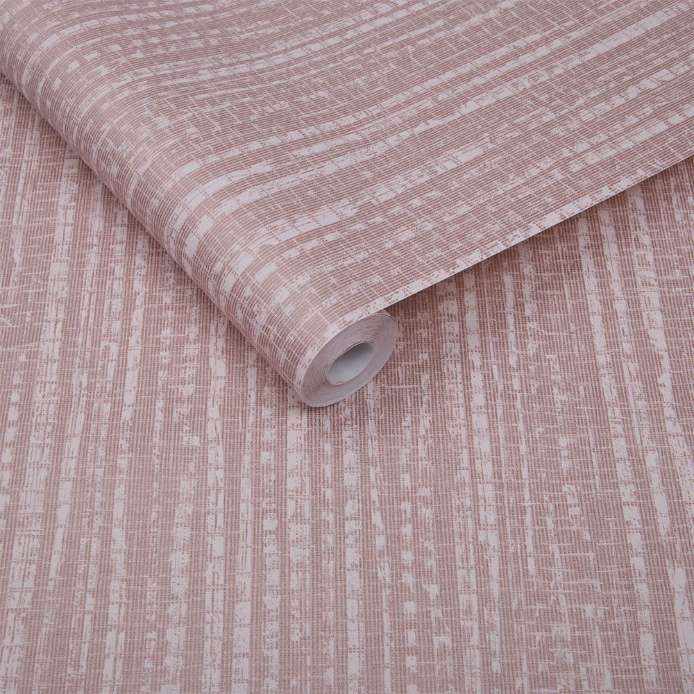Bamboo Texture Wallpaper - Pink - by Graham & Brown