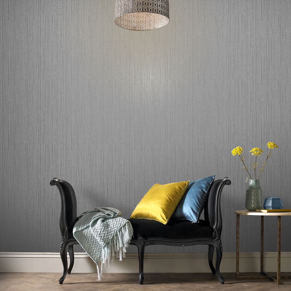 Graham & Brown Bamboo Texture Silver Wallpaper - Product code: 104730