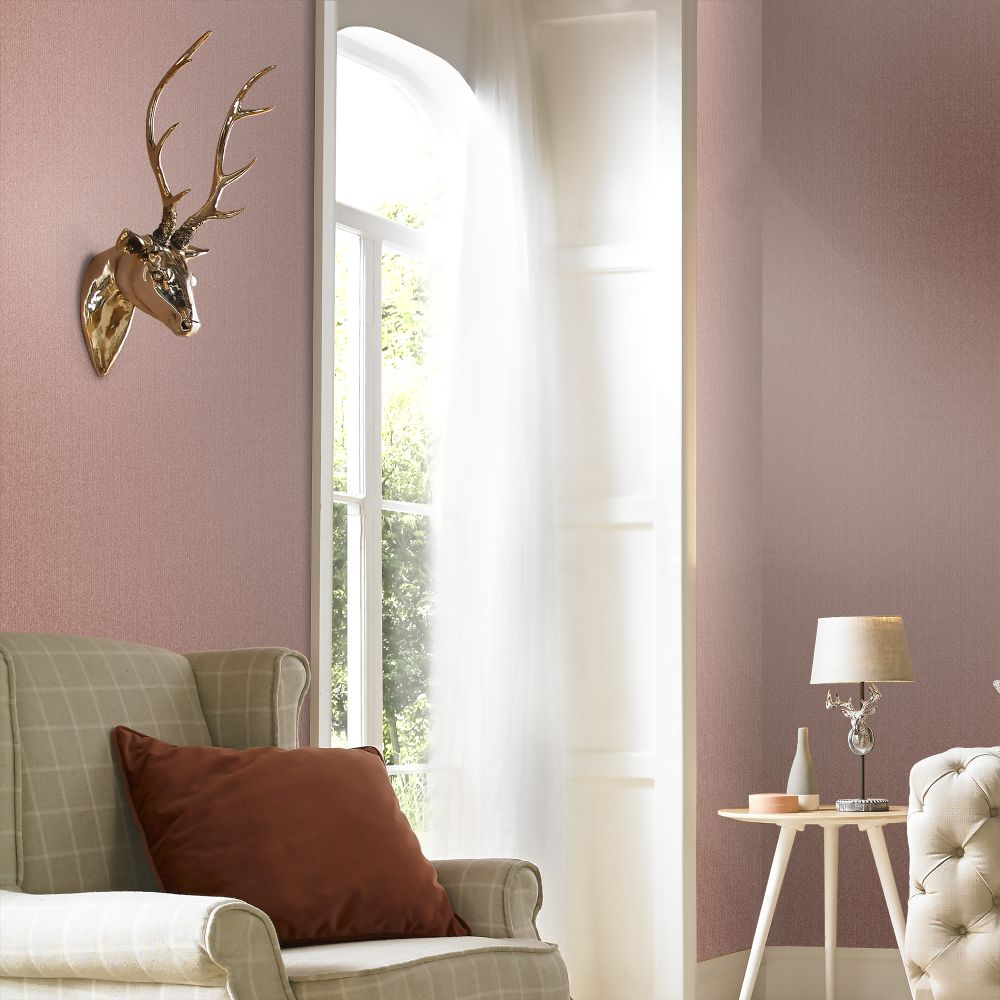 Knitted Texture Wallpaper - Pink - by Graham & Brown