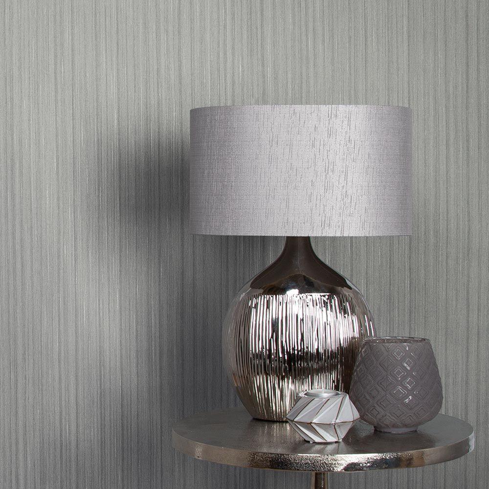Graham & Brown Silk Silver Wallpaper - Product code: 105867
