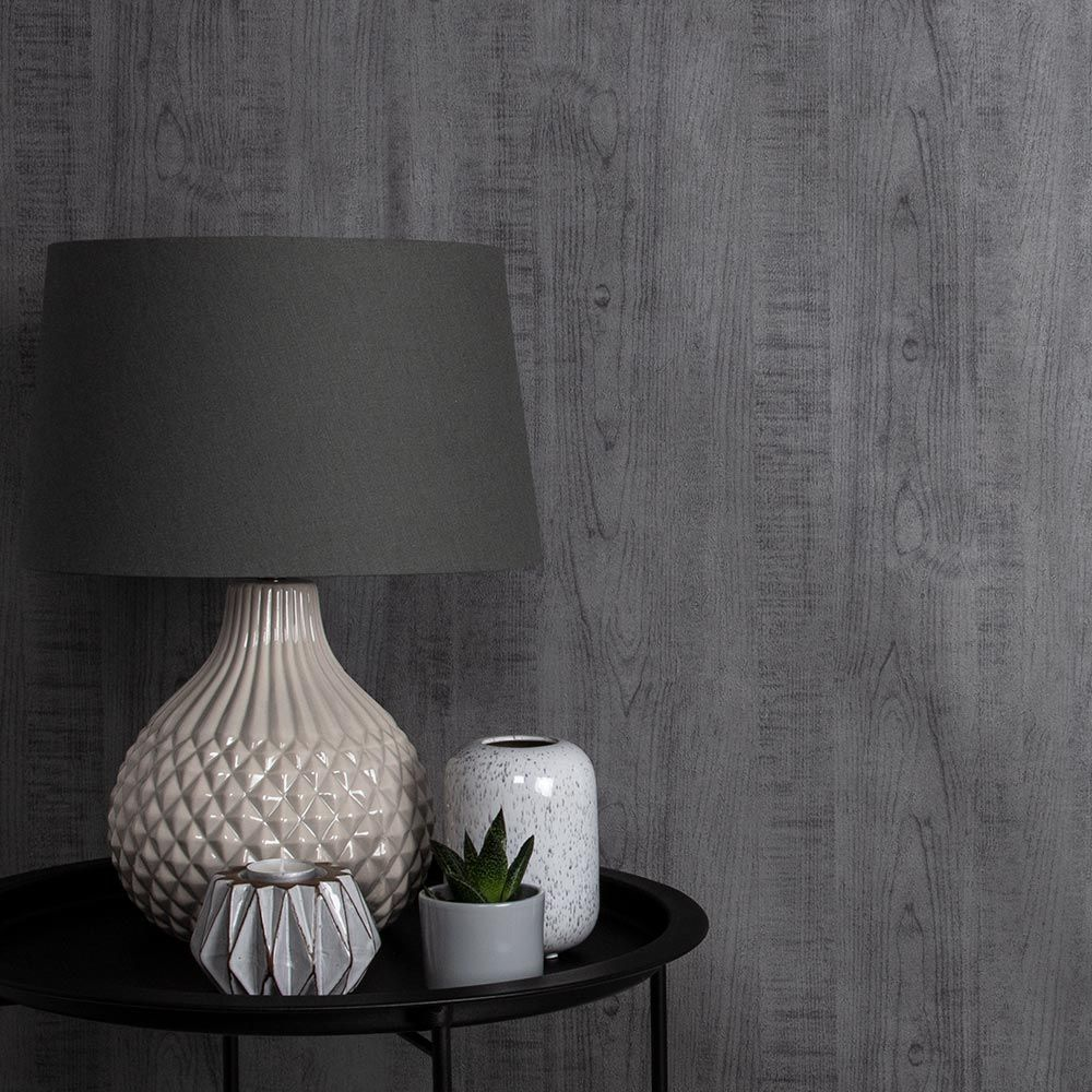 Graham & Brown Wood Grain Grey Wallpaper - Product code: 105861