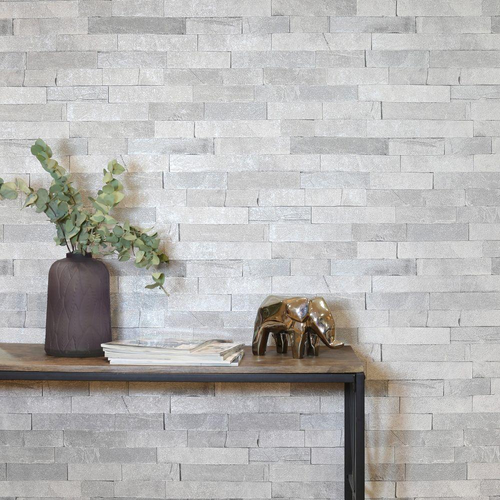 Graphite Slate Wallpaper - Grey - by Arthouse