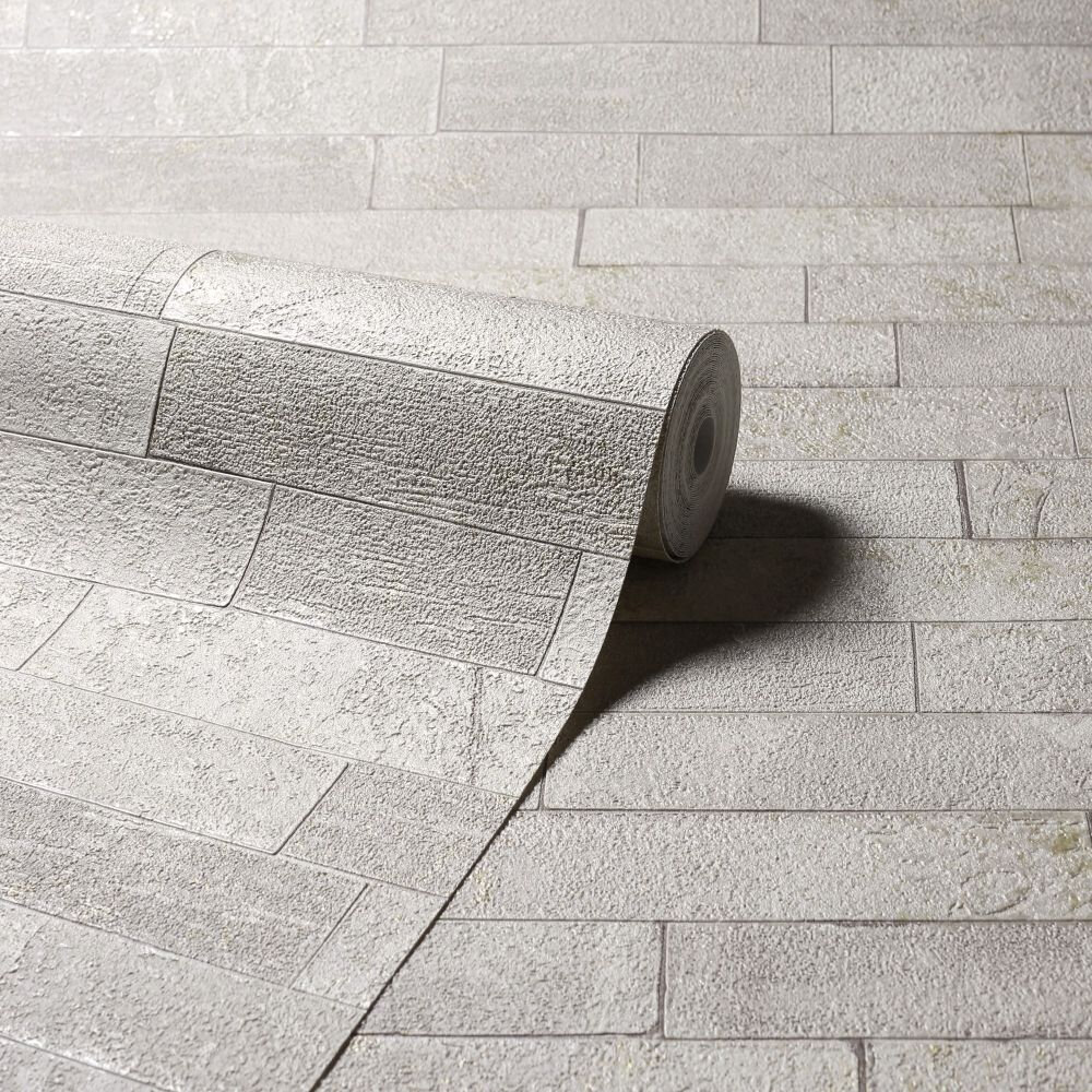 Graphite Slate Wallpaper - Taupe - by Arthouse