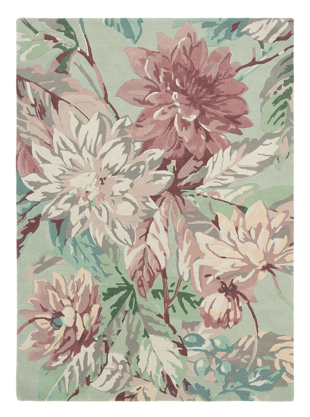 Sanderson Dahlia and Rosehip Rug Mulberry - Product code: 50607 / 257275