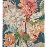 Sanderson Dahlia and Rosehip Rug Teal - Product code: 50608 / 257282