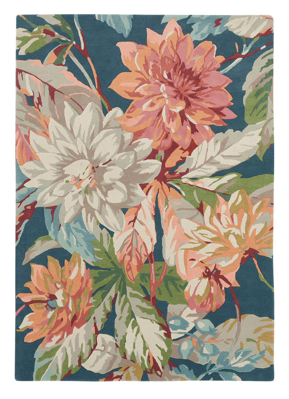 Sanderson Dahlia and Rosehip Rug Teal - Product code: 50608 / 257283