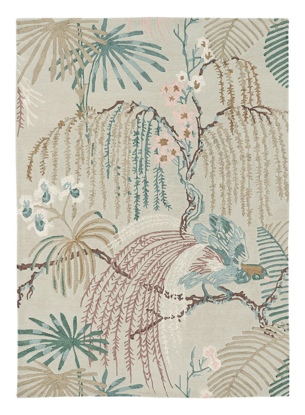 Sanderson Rainforest Rug Orchid Grey - Product code: 50701 / 257299