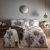 Oasis Botanical Bouquet Duvet Set Ivory Duvet Cover - Product code: M0026/01/KS