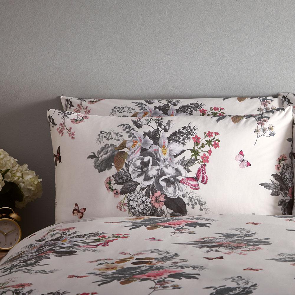 Botanical Bouquet Duvet Set Duvet Cover - Ivory - by Oasis