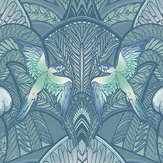 Laurence Llewelyn-Bowen Pleasure Island Metallic Greens Wallpaper - Product code: LLB6042