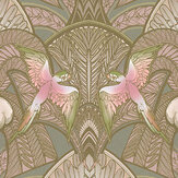 Laurence Llewelyn-Bowen Pleasure Island Cocoa Brown / Soft Pink Wallpaper - Product code: LLB6043