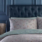 Oasis Hummingbird Pillowcase Pair Grey - Product code: M2087/01