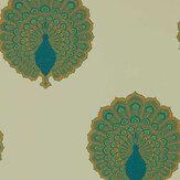 Sanderson Kalapi Peacock Wallpaper - Product code: 216757