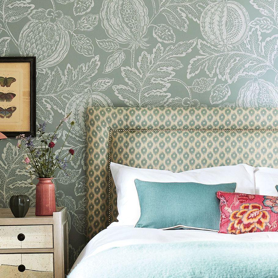 Cantaloupe Wallpaper - English Grey - by Sanderson