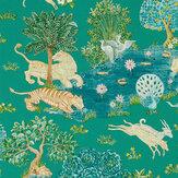 Sanderson Pamir Garden Teal / Peacock Wallpaper - Product code: 216765