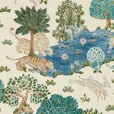 Sanderson Pamir Garden Cream / Nettle Wallpaper - Product code: 216766