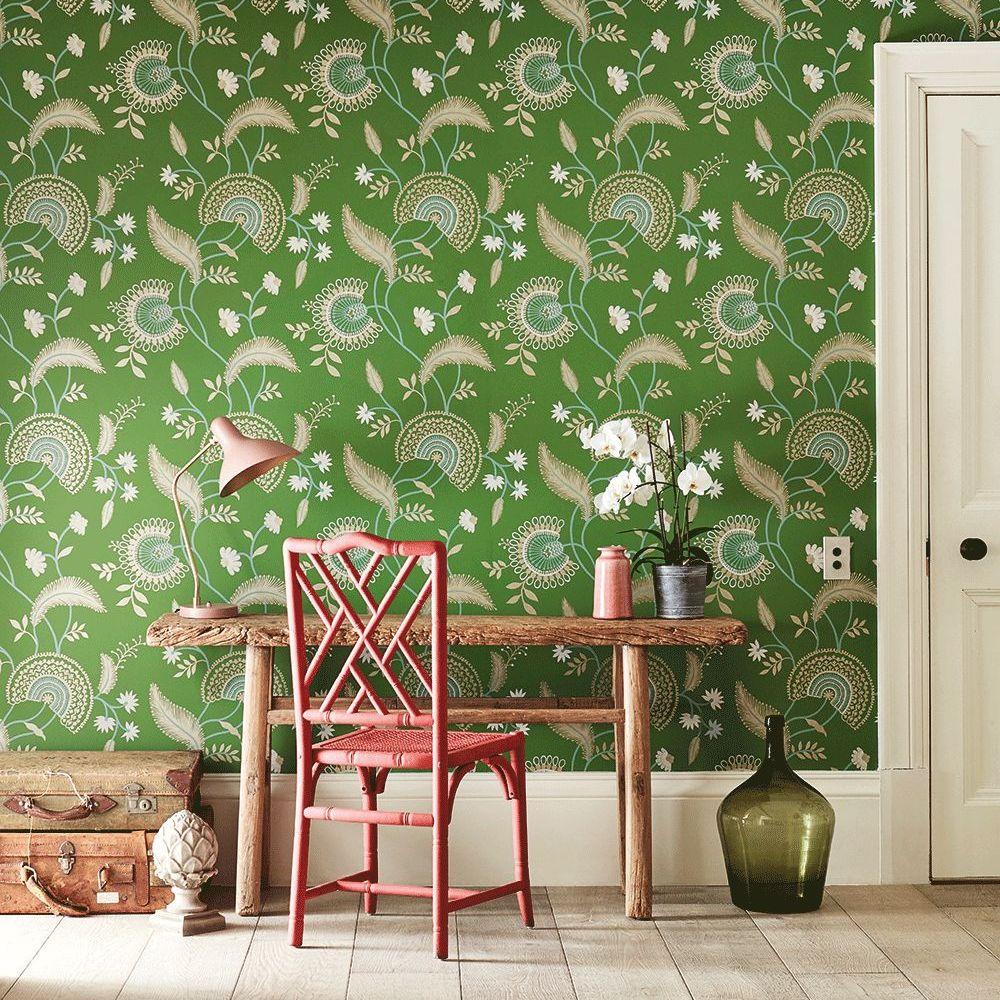 Hakimi Wallpaper - Emerald - by Sanderson