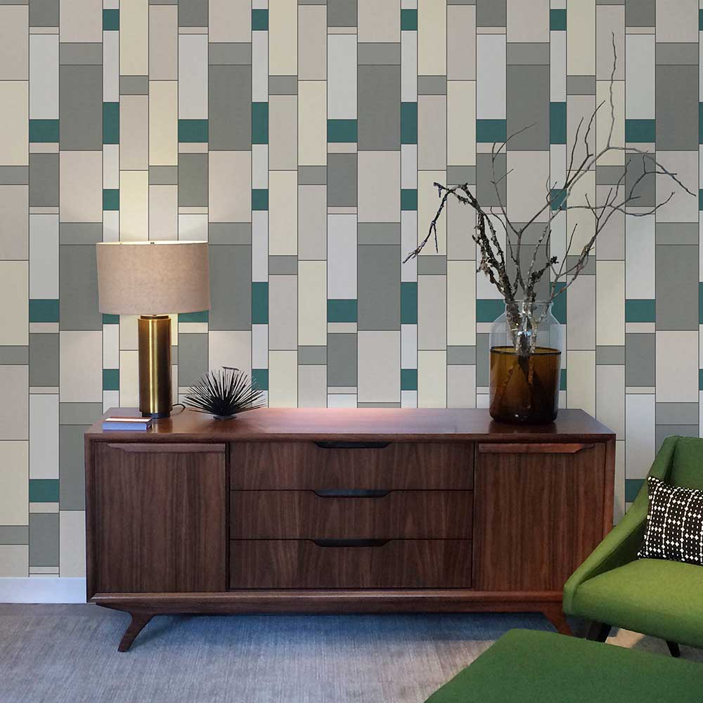 Coordonne Structural Turquoise Wallpaper - Product code: 8601110