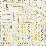 Nina Campbell Cloisters Ochre / Tobacco / Ivory Fabric - Product code: NCF4361-03
