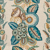 Nina Campbell Ashdown Stripe Teal / Aqua Fabric - Product code: NCF4363-02