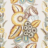 Nina Campbell Ashdown Stripe Ochre / Taupe / Duck Egg Fabric - Product code: NCF4363-03