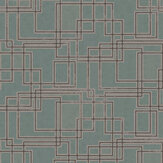 Coordonne Circuit Turquoise Wallpaper - Product code: 8601717