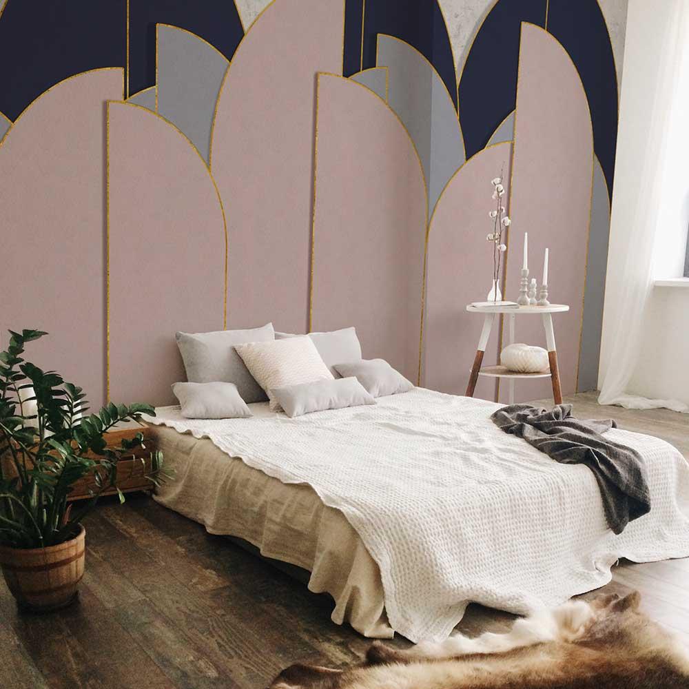 Pavilion Mural - Rose - by Coordonne