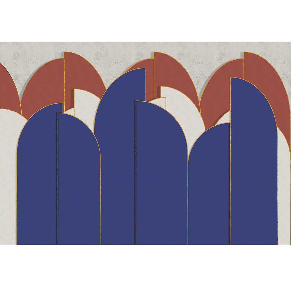 Pavilion Mural - Ultramarine - by Coordonne
