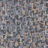 Osborne & Little Tesserae Slate / Metallic Bronze Wallpaper - Product code: W6754-05