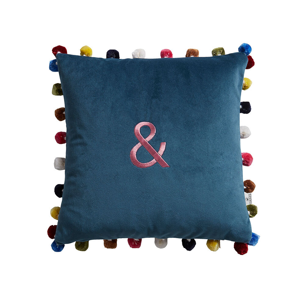 & Cushion - Blue - by Oasis