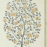Sanderson Anaar Tree Charcoal / Gold Wallpaper - Product code: 216791
