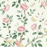 Sanderson Andhara Rose / Cream Wallpaper - Product code: 216795