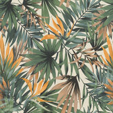 Albany Palm Paradise Green / Orange Wallpaper - Product code: 465211
