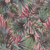 Albany Palm Paradise Green / Pink Wallpaper - Product code: 465235