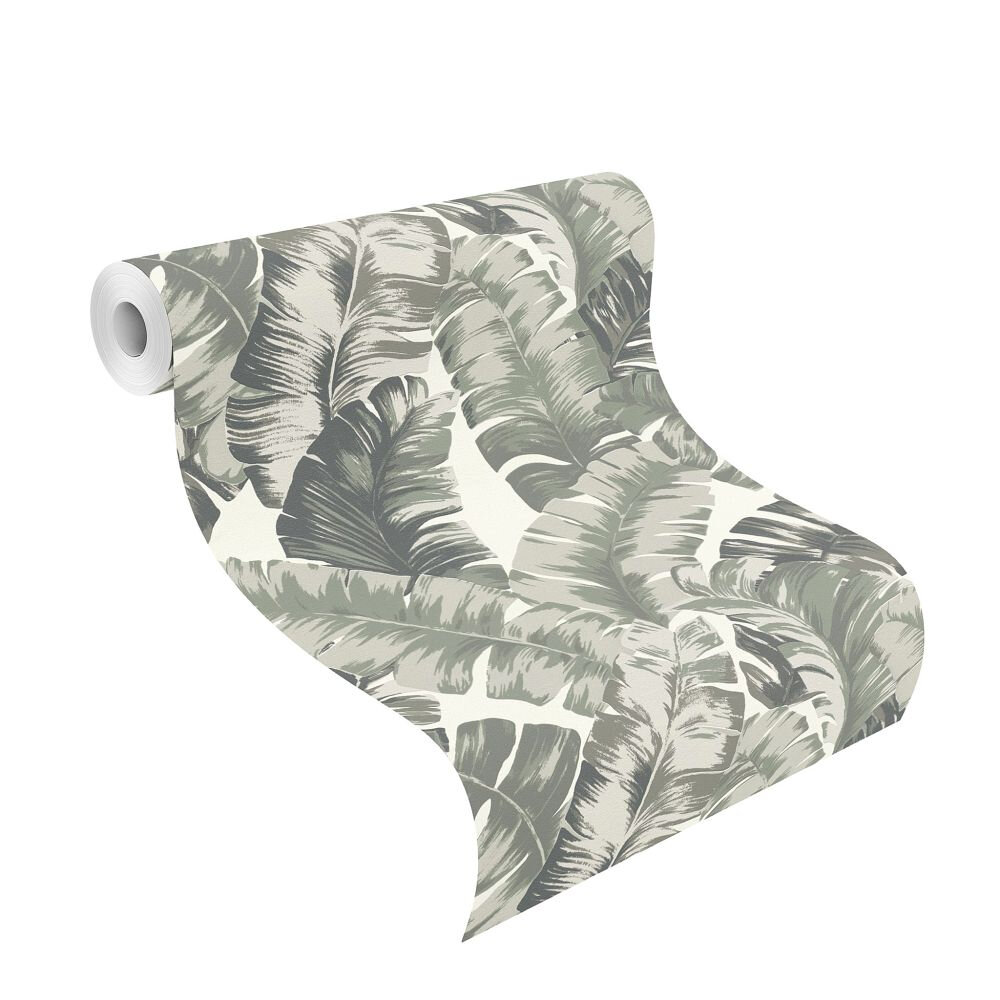 Albany Banana Palm Grey / Green Wallpaper - Product code: 535600