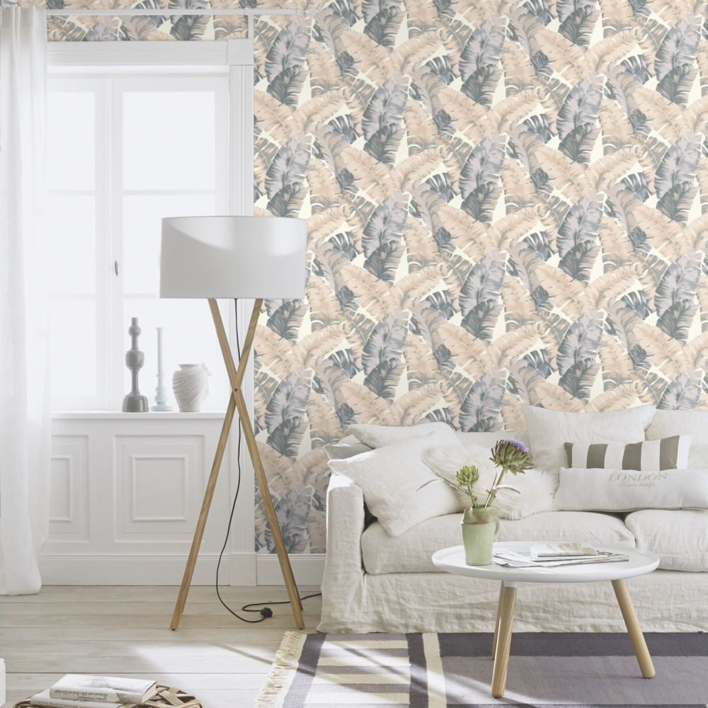 Banana Palm Wallpaper - Neutral - by Albany