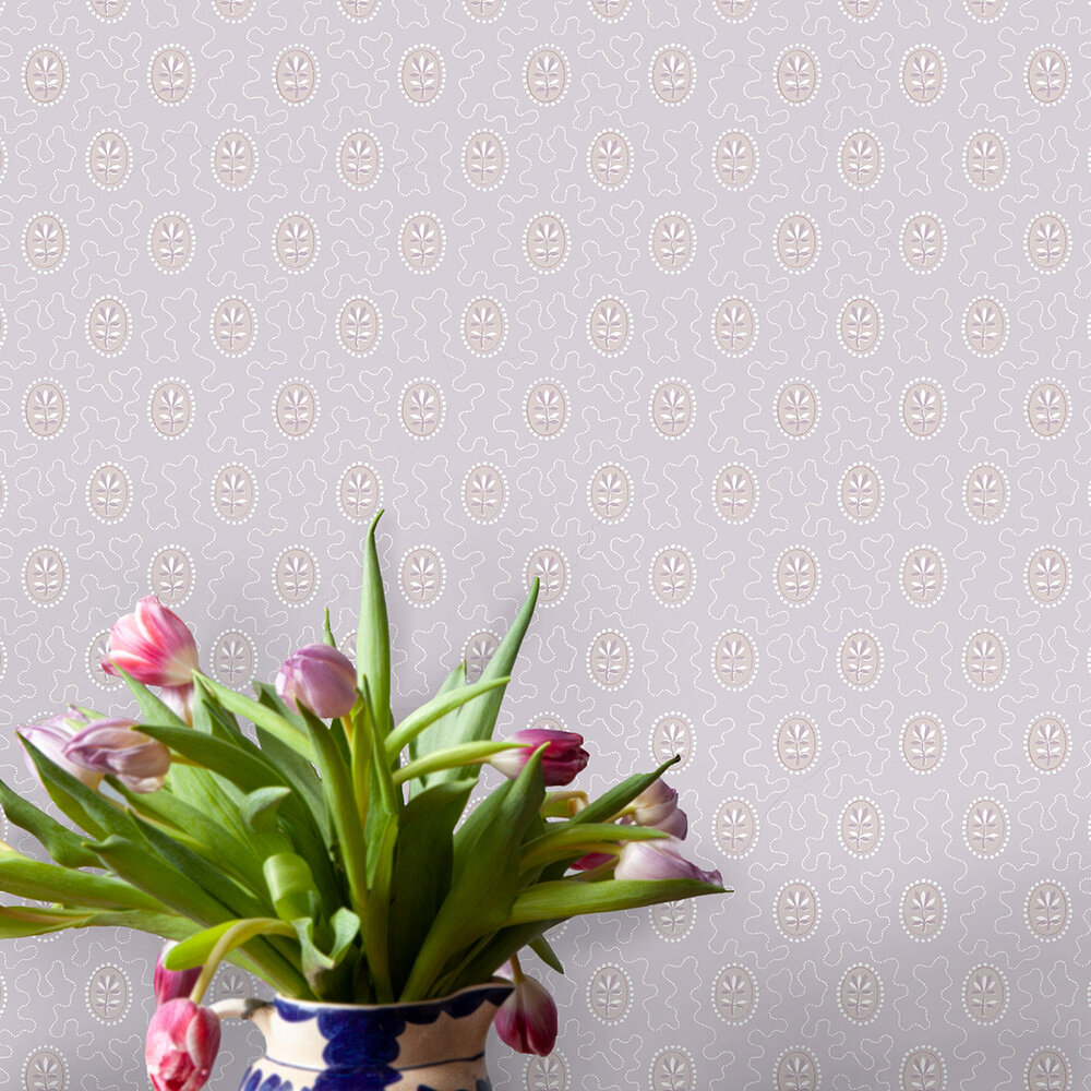 Archway House Wallpaper - Pink - by Hamilton Weston Wallpapers