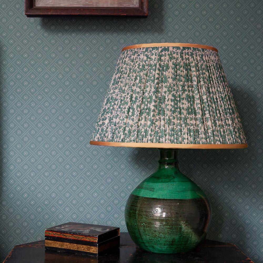 Bloomsbury Dot Wallpaper - Grey Green - by Hamilton Weston Wallpapers