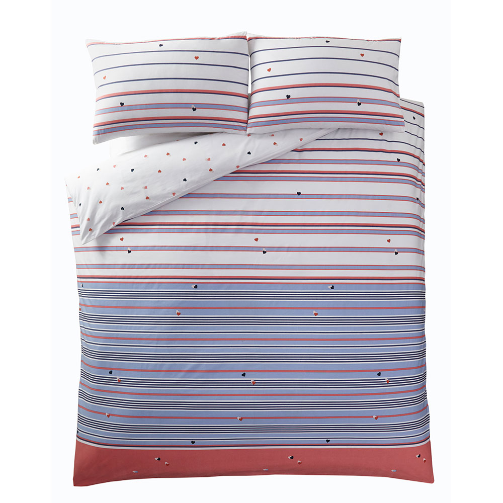 Kissing Hearts Duvet Set Duvet Cover - Candy - by Oasis