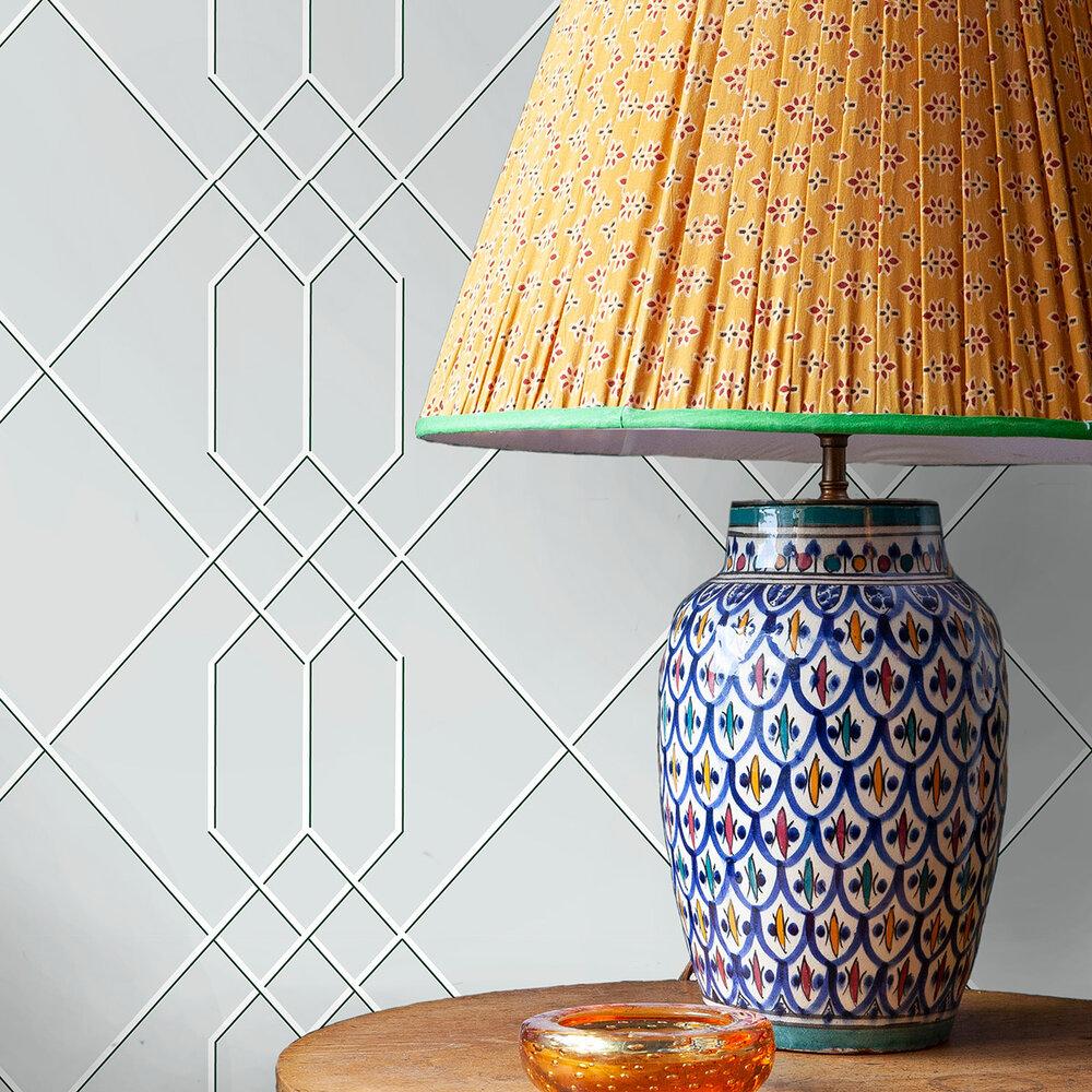 Richmond Trellis Wallpaper - Mid-Grey - by Hamilton Weston Wallpapers